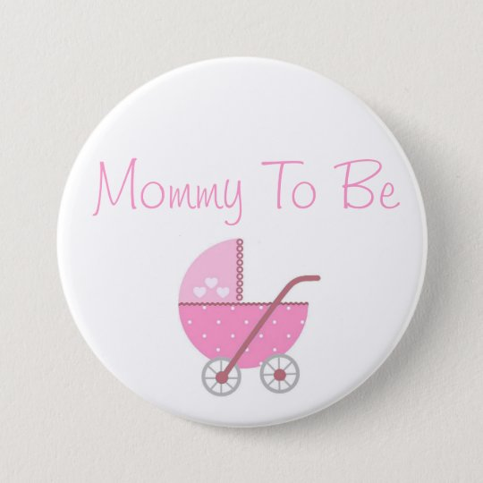 Along Came A Carriage Baby Shower Mummy to Be 7.5 Cm Round Badge