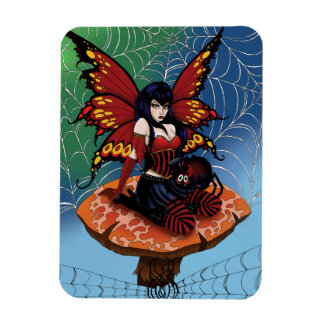 Along came a spider rectangle magnet