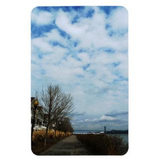 Along the Beautiful Hudson River Rectangular Photo Magnet