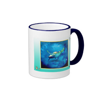 Along the Great Barrier Reef Ringer Coffee Mug
