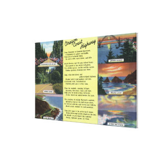 Along the Oregon Coast Highway with a Poem Canvas Print