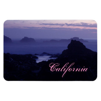 Along the Pacific Coast Highway California Rectangle Magnets