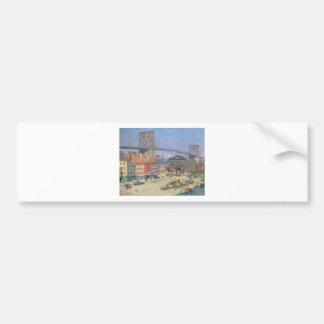 Along the River Front, New York circa 1912 Bumper Sticker