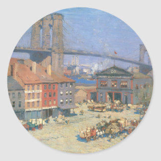 Along the River Front, New York circa 1912 Round Sticker