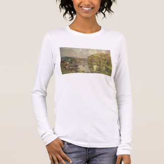 Along the Seine at Meudon, c.1893 (oil on canvas) Long Sleeve T-Shirt