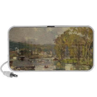 Along the Seine at Meudon, c.1893 (oil on canvas) Notebook Speaker