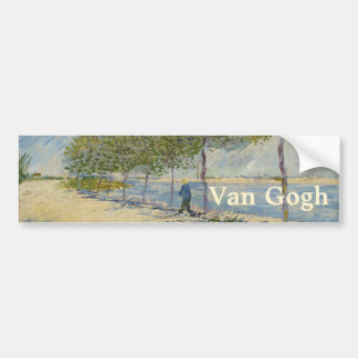 Along the Seine by Vincent Van Gogh Bumper Sticker