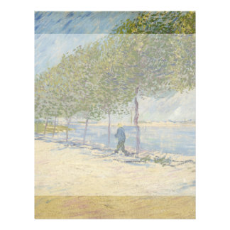Along the Seine by Vincent Van Gogh Full Color Flyer