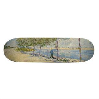 Along the Seine by Vincent Van Gogh Skateboard Deck