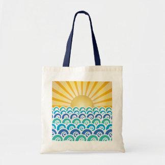 Along the Waves Blue Bag