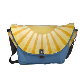 Along the Waves Blue Messenger Bag