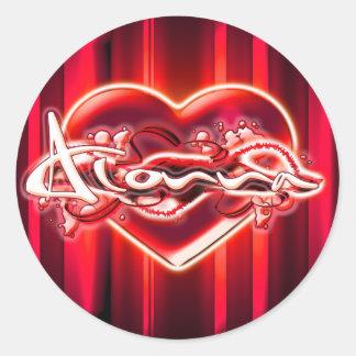 Alonna Round Sticker