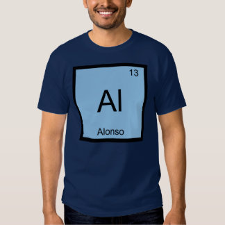Alonso Name Chemistry Element Periodic Table Shirt