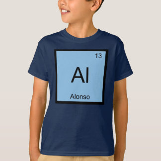 Alonso Name Chemistry Element Periodic Table T-Shirt
