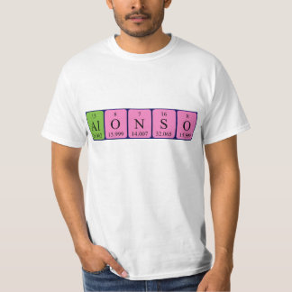 Alonso periodic table name shirt