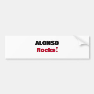 Alonso Rocks Bumper Sticker