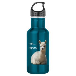 Alpaca 18oz Water Bottle