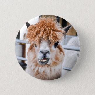 Alpaca 6 Cm Round Badge