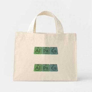 Alpaca-Al-Pa-Ca-Aluminium-Protactinium-Calcium Mini Tote Bag