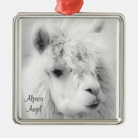 Alpaca Angel White Alpaca Angel Ornament