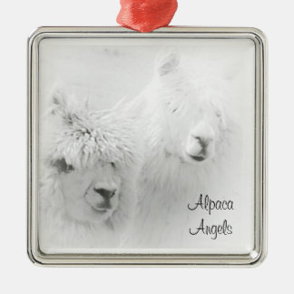 Alpaca Angels White Alpacas Ornament