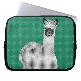 Alpaca Art Green Computer Sleeve