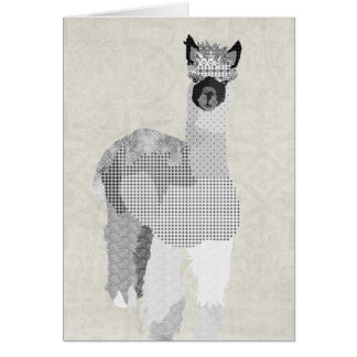 Alpaca Art Thank You Card