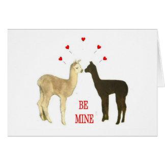 Alpaca be mine Valentine Greeting Card