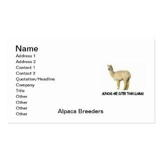Alpaca Breeder's  Business Card