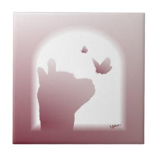 Alpaca Butterfly Silhouette Tile