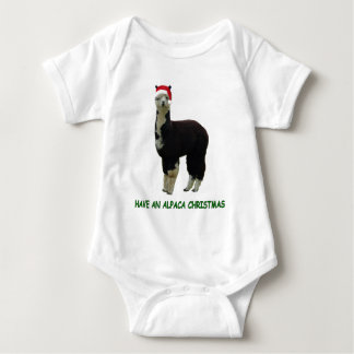 Alpaca Christmas Baby Bodysuit