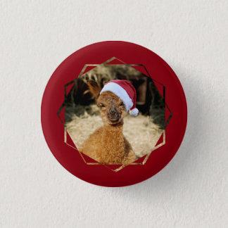 Alpaca Christmas Buttons