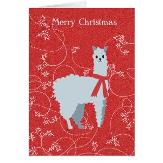 Alpaca Christmas Card