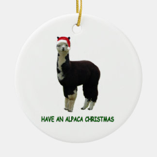 Alpaca Christmas Christmas Ornament