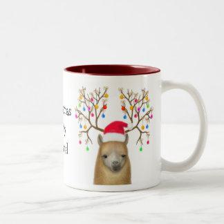 Alpaca Christmas Mug