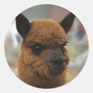 Alpaca Classic Round Sticker