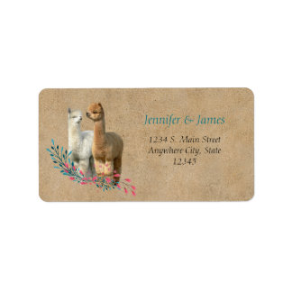 Alpaca Country Wedding Address Return Labels