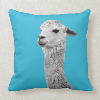 Alpaca farm animal photo nursery kids room cushion