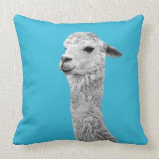 Alpaca farm animal photo nursery kids room throw pillow