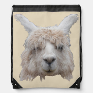 Alpáca from Peru Drawstring Backpack