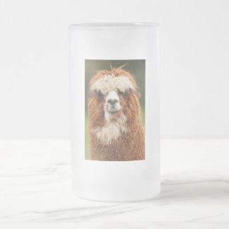 Alpaca Frosted Glass Beer Mug