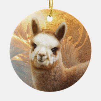 Alpaca Gold Chirstmas Ornament
