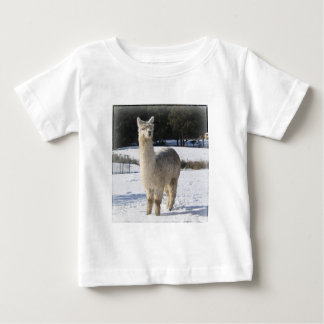 Alpaca In the Snow Baby T-Shirt