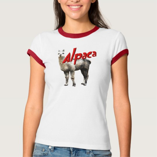 Alpaca ladies ringer t-shirt