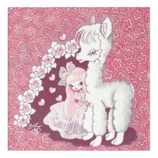 Alpaca Love Acrylic Wall Art