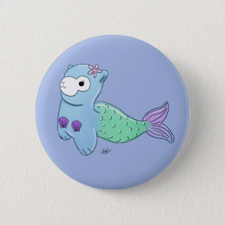 Alpaca mermaid badge