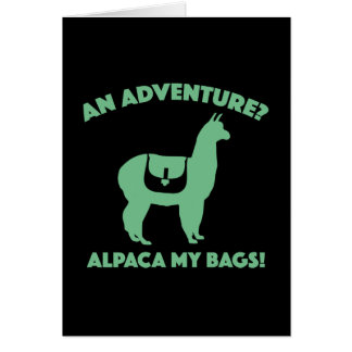 Alpaca My Bags Card