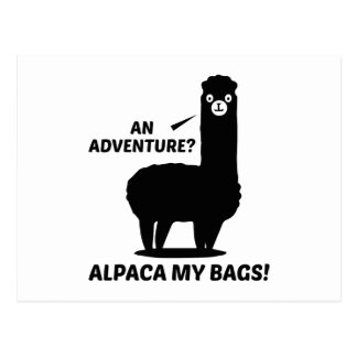 Alpaca My Bags Postcard