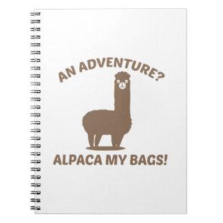 Alpaca My Bags Spiral Notebook