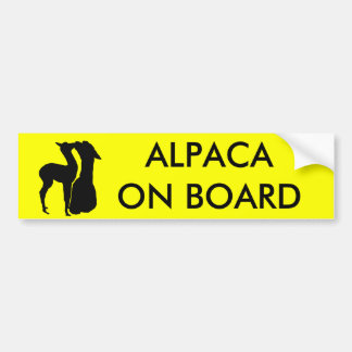 Alpaca On Board - Bumper Sticker